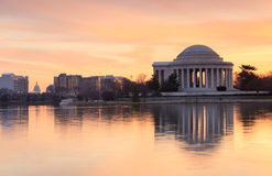 Washington DC Monuments Sunrise Royalty Free Stock Photo