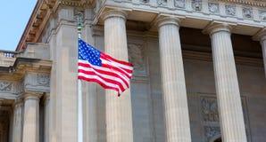 Washington DC Monuments with USA. Stock Image