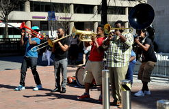Washington, DC: Musicians at Dupont Circlre Stock Images