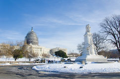 Washington DC na sneeuwonweer, Januari 2016 Stock Afbeelding