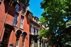 Washington DC-Nachbarschaftsgebäude Stockfotografie