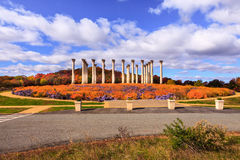 Washington DC National Arboretum Capitol Columns Autumn Stock Images