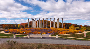 Washington DC National Capitol Columns in Autumn Royalty Free Stock Photos