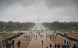 Washington DC National Mall on a cloudy day Royalty Free Stock Photo
