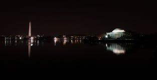 Washington DC at night Royalty Free Stock Photos