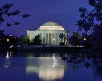Washington DC at night Stock Photography