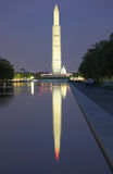 Washington DC night View. US Congress & Washington Monument at twilight  from Lincoln Memorial Stock Photography