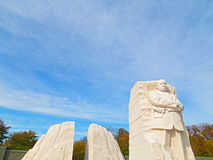 WASHINGTON DC - NOVEMBER 09, 2014: The Martin Luther King Jr Memorial and the National Monument on the National Mall in Washington Royalty Free Stock Image