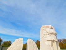 WASHINGTON DC - NOVEMBER 09, 2014: Martin Luther King Jr Memorial och den nationella monumentet på den nationella gallerian i Was Royaltyfri Bild