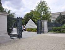 Washington DC, o 5 de agosto: National Gallery de Art Sculpture Garden de Washington District de Colômbia imagens de stock royalty free