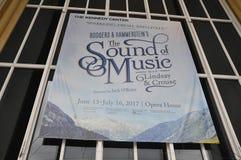 Washington DC, o 5 de julho: Anúncio para a mostra de Opera de Kennedy Center de Washington District de Colômbia EUA Imagens de Stock