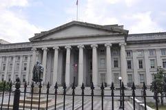 Washington DC, o 4 de julho de 2017: Construção do departamento da Tesouraria de Washington Columbia District nos EUA Foto de Stock