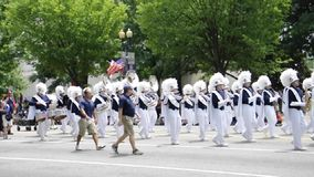 Washington DC, o 4 de julho de 2017: A parada para o 4 de julho de Washington District de Colômbia EUA vídeos de arquivo