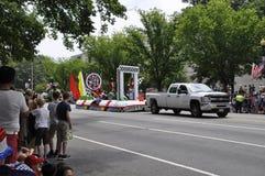 Washington DC, o 4 de julho de 2017: A parada para a parada do 4 de julho de Washington District de Colômbia EUA Imagem de Stock