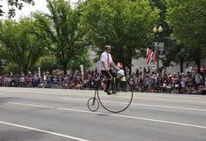 Washington DC, o 4 de julho de 2017: A parada para a parada do 4 de julho de Washington District de Colômbia EUA Imagem de Stock Royalty Free