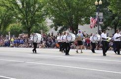 Washington DC, o 4 de julho de 2017: A parada para a parada do 4 de julho de Washington District de Colômbia EUA Imagens de Stock Royalty Free