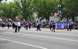 Washington DC, o 4 de julho de 2017: A parada para a parada do 4 de julho de Washington District de Colômbia EUA Foto de Stock
