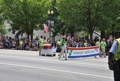 Washington DC, o 4 de julho de 2017: A parada para a parada do 4 de julho de Washington District de Colômbia EUA Fotos de Stock
