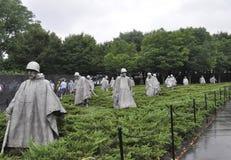 Washington DC, o 5 de julho: Memorial de Guerra da Coreia de Washington District de Colômbia EUA Imagens de Stock