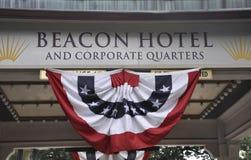 Washington DC, o 4 de julho de 2017: Quadro indicador do hotel da baliza de Washington District de Colômbia EUA Fotos de Stock