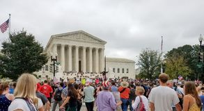 WASHINGTON, DC - OCTOBER 06, 2018: Supreme Court Protests again stock images