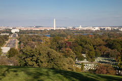 Washington DC panorama - Aerial view of Arlington Hill Stock Images