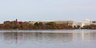 Washington DC panorama near Tidal Basin in fall. Stock Photo