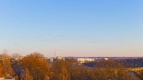 Washington DC panorama w zimie blisko Potomac Rzecznego nabrzeża, usa obraz stock