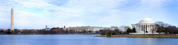 Washington DC Panoramic Royalty Free Stock Images