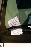 Washington DC Parking Ticket on Car Windshield Royalty Free Stock Image