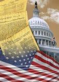 Washington DC - patriotiska symboler - USA Royaltyfri Fotografi