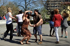 Washington, DC: People Salsa Dancing at Dupont Circle Stock Photos