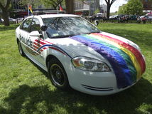 WASHINGTON DC POLICE GAY AND LESBIAN UNIT CAR. Washington DC May 3, 2014 Royalty Free Stock Images