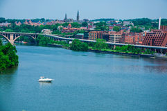 Washington DC by the Potomac river Royalty Free Stock Photography
