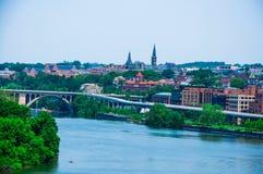 Washington DC by the Potomac river Royalty Free Stock Image