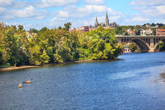Washington DC principal d'université de Georgetown de passerelle Photos stock