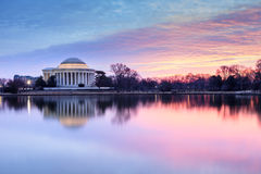 Washington DC Rainbow Colored Sunrise Stock Photo