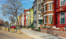 Washington DC Rainbow Row Houses Royalty Free Stock Photography