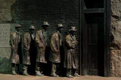 Washington DC, Roosevelt Gedenkteken, de lijn van het Brood Royalty-vrije Stock Fotografie