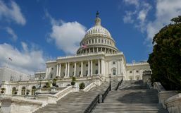United States Capitol building in Washington DC. WASHINGTON DC - SEP 2017: United States Capitol building, home of the Congress in Washington DC, USA Stock Photos