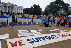WASHINGTON DC - September 03, 2017: DACA and DREAM Act protests Royalty Free Stock Images