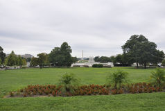 Washington DC, Sierpień 5th: Krajowy centrum handlowe ogród od Waszyngtońskiego dystryktu kolumbii zdjęcie royalty free