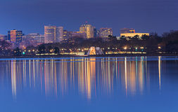 Washington DC Skyline Blue Hour Stock Image