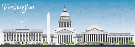 Washington DC Skyline with Gray Buildings and Blue Sky. Stock Image