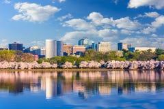 Washington DC-Skyline im Frühjahr lizenzfreie stockbilder