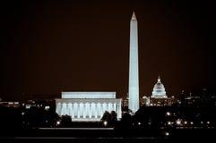 Washington DC Skyline At Night Stock Photo