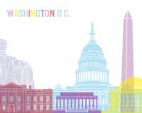 Washington DC skyline pop Royalty Free Stock Photos