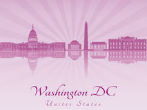 Washington DC skyline in purple radiant orchid Royalty Free Stock Photography