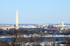 Washington DC skyline in winter Stock Images
