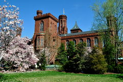 Washington DC: Smithsonian slottmuseum Arkivbild